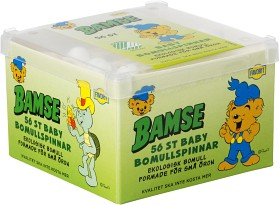 Bild på Favorit Bamse Baby Bomullspinnar 56 st