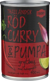 Bild på Favorit Röd Curry & Pumpa Grytbas 400 ml
