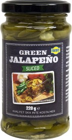 Bild på Favorit Sliced Green Jalapeño 220 g