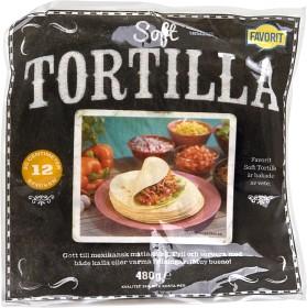 Bild på Favorit Soft Tortillas 12 p