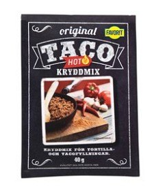 Bild på Favorit Taco Kryddmix Hot 40 g
