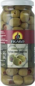 Bild på Figaro Gröna Oliver Paprika 340 g (avrunnen 200 g)