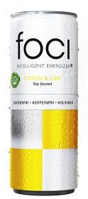 Bild på Foci Citron & Lime 250 ml inkl. Pant