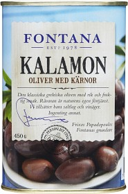 Bild på Fontana Oliver Kalamon med Kärnor 450 g
