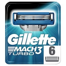 Bild på Gillette Mach3 Turbo rakblad 6 st