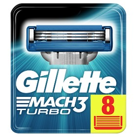 Bild på Gillette Mach3 Turbo rakblad 8 st