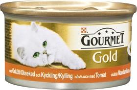 Bild på Gourmet Gold Oxkött & Kyckling i Tomatsås 85 g