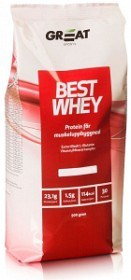 Bild på Great Earth Best Whey Muscle Repair Jordgubb 900 g