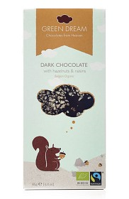 Bild på Green Dream Dark Chocolate Hazelnuts & Raisins 85 g