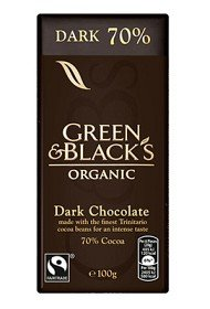 Bild på Green & Blacks Dark Chocolate 70% 100 g