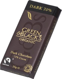 Bild på Green & Blacks Dark Chocolate 70% 35 g