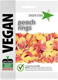 Bild på Green Star Peach Rings 80 g