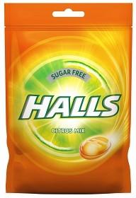 Bild på Halls Citrus Mix halstablett