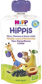 Bild på HiPPis Smoothie Päron Plommon & Svarta Vinbär 4M 100 g