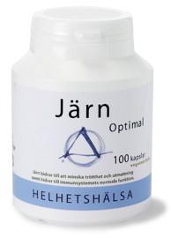 Bild på Helhetshälsa Järnoptimal 100 kapslar