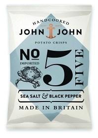 Bild på John & John Crisps Sea Salt & Black Pepper 40 g