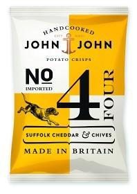 Bild på John & John Crisps Suffolk Cheddar & Chives 40 g