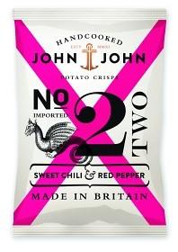 Bild på John & John Crisps Sweet Chili & Red Pepper 40 g