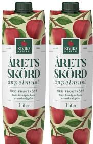 Bild på Kiviks Årets Skörd Äppelmust med Fruktkött 2x1 L