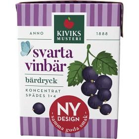 Bild på Kiviks Lättdryck Svarta Vinbär 2dl