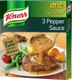 Bild på Knorr Gourmet 3 Pepparsås 3x2,5 dl