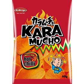 Bild på Koikeya Karamucho Chips Hot Chilli Ridge Cut 60g