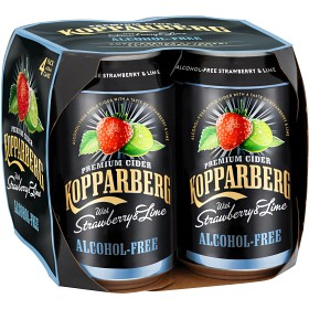 Bild på Kopparberg Strawberry&Lime Alkoholfri 4x33cl Inkl. Pant