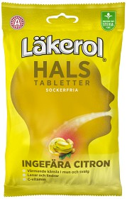Bild på Läkerol Hals Ingefära Citron 65 g