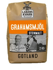 Bild på Labans Kvarn Graham Stenmalet Mjöl 2 kg