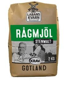 Bild på Labans Kvarn Rågmjöl Stenmalet 2 kg