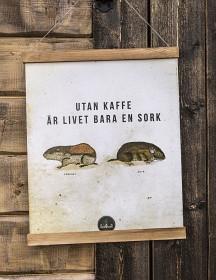 Bild på Lemmelkaffe Poster - Utan kaffe är livet bara en sork