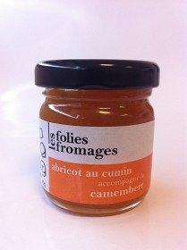 Bild på Les Folies Fromages Aprikos-, Kummin- & Apelsinskalsmarmelad 45 g