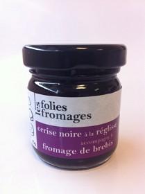 Bild på Les Folies Fromages Svarta Körsbär- & Lakritsmarmelad 45 g