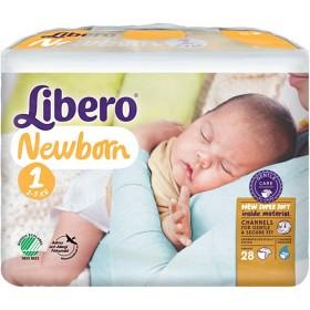Bild på Libero Newborn Blöjor Storlek 1, 28 st