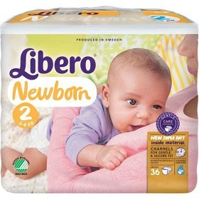 Bild på Libero Newborn Blöjor Storlek 2, 36 st