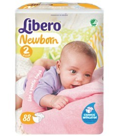 Bild på Libero Newborn Blöjor Storlek 2, 88 st