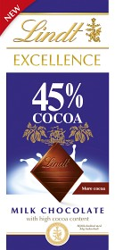 Bild på Lindt Excellence Milk 45% 80 g