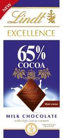 Bild på Lindt Excellence Milk 65% 80 g