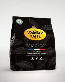 Bild på Lindvalls Kaffe Tricolore Hela Bönor 450 g