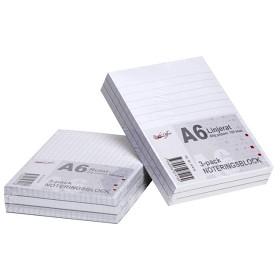 Bild på Linjerat Noteringsblock A6 3-pack