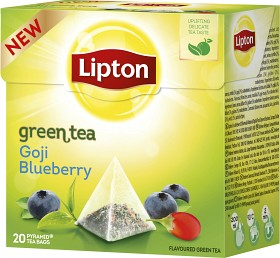 Bild på Lipton Grönt Te Blåbär & Goji Pyramid 20 p
