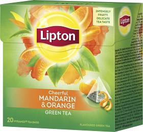Bild på Lipton Green Tea Mandarin Orange 20 tepåsar