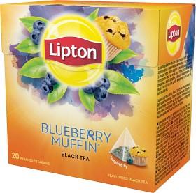 Bild på Lipton Black Tea Blueberry Muffin 20 tepåsar