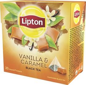 Bild på Lipton Black Tea Vanilla Caramel 20 tepåsar