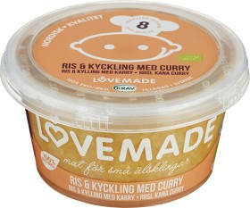 Bild på Lovemade Ris & Kyckling med curry 8M 180 g