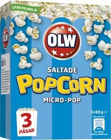 Bild på OLW Micropopcorn Original 3x80 g