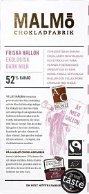 Bild på Malmö Chokladfabrik Friska Hallon Dark Milk 52% kakao 80 g