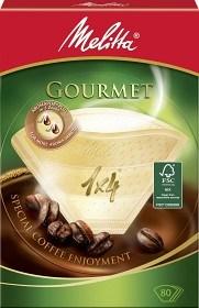 Bild på Melitta Kaffefilter Gourmet 1x4 Oblekta 80 st