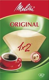 Bild på Melitta Kaffefilter Original 1x2 Oblekta 40 st