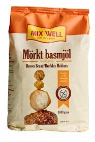 Bild på MixWell glutenfritt mörkt basmjöl 1000 g